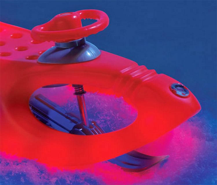 Light-Up LED Night-Time Alpine Winter Sled