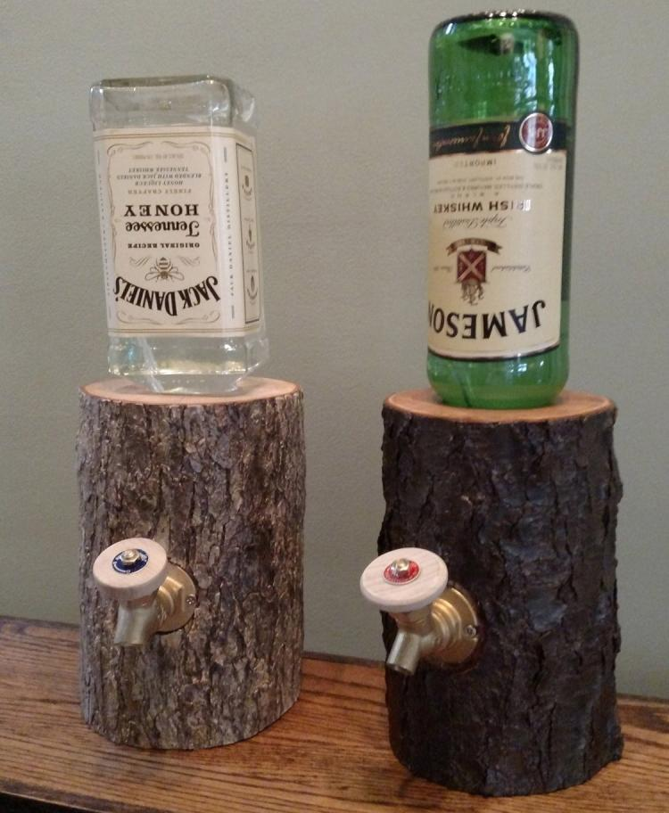 liquor bottle craft ideas the liquor log dispenses your booze through an actual log 4872
