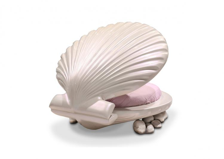 Little Mermaid Bed Clam Shell Shaped Kids Bed