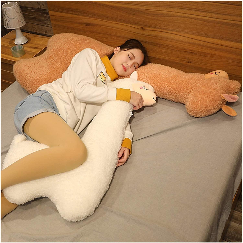 Llama body pillow - life-size alpaca body pillow