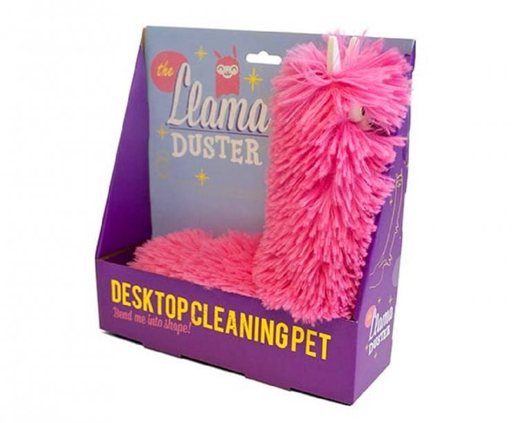 Llama Duster - Pink fluffy llama shaped cleaning duster - Desktop cleaning pet llama