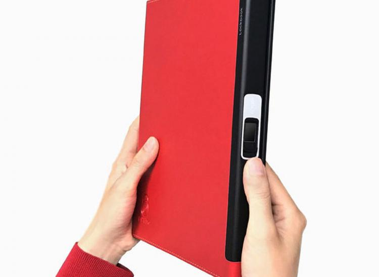 Lockbook Fingerprint Secured Notebook - Travel notebook/scheduler with fingerprint lock
