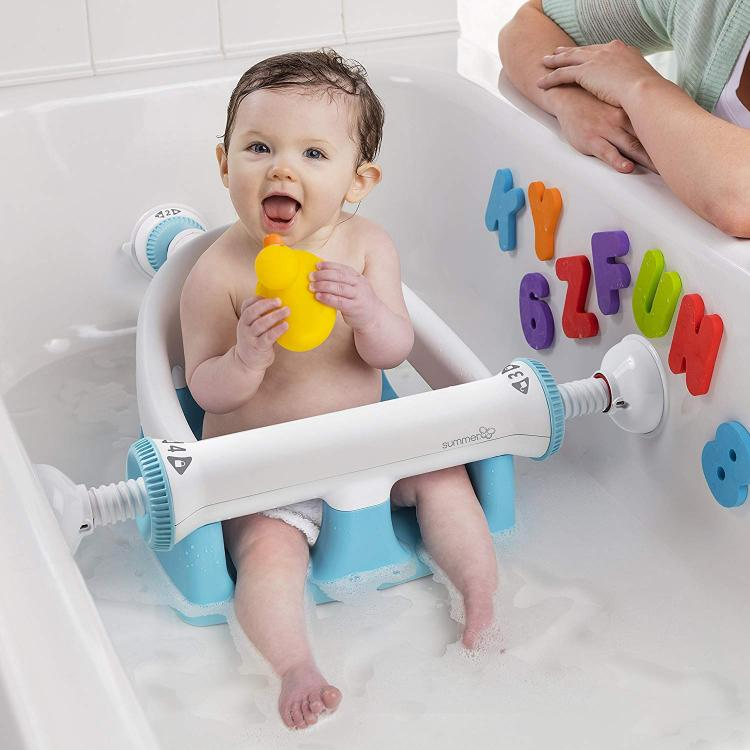 Baby Bathtub Seat With Backrest Suction Cups To Side Of Bathtub - Summer Infant My Bath Seat