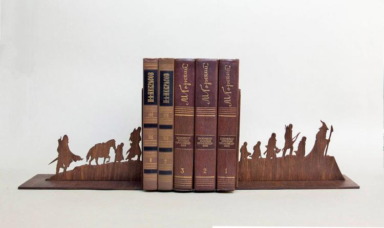 Lord Of The Rings Silhouette Bookends