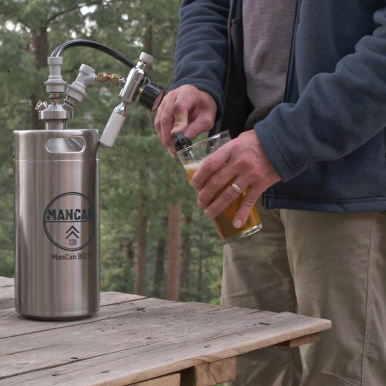 ManCan Personal Beer Keg - Travel Mini Beer Keg