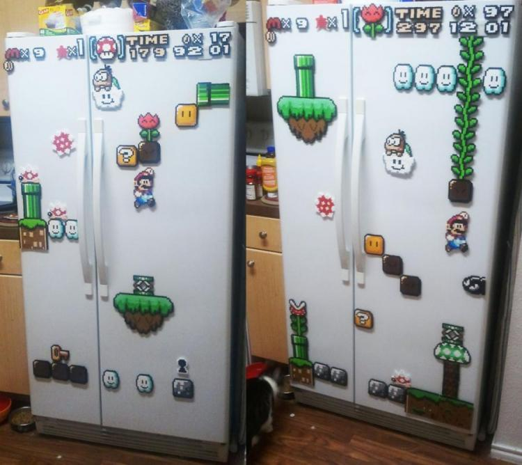 SNES Mario Fridge Magnets