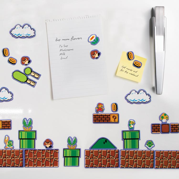 Mario Fridge Magnets - Make Mario Level On Refrigerator (NES)