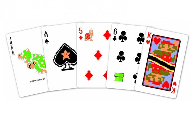 8-Bit Mario Playing Cards - Pixelated Mario Playing Cards