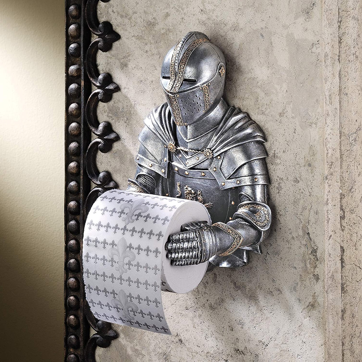 Medieval Knight Toilet Paper Holder
