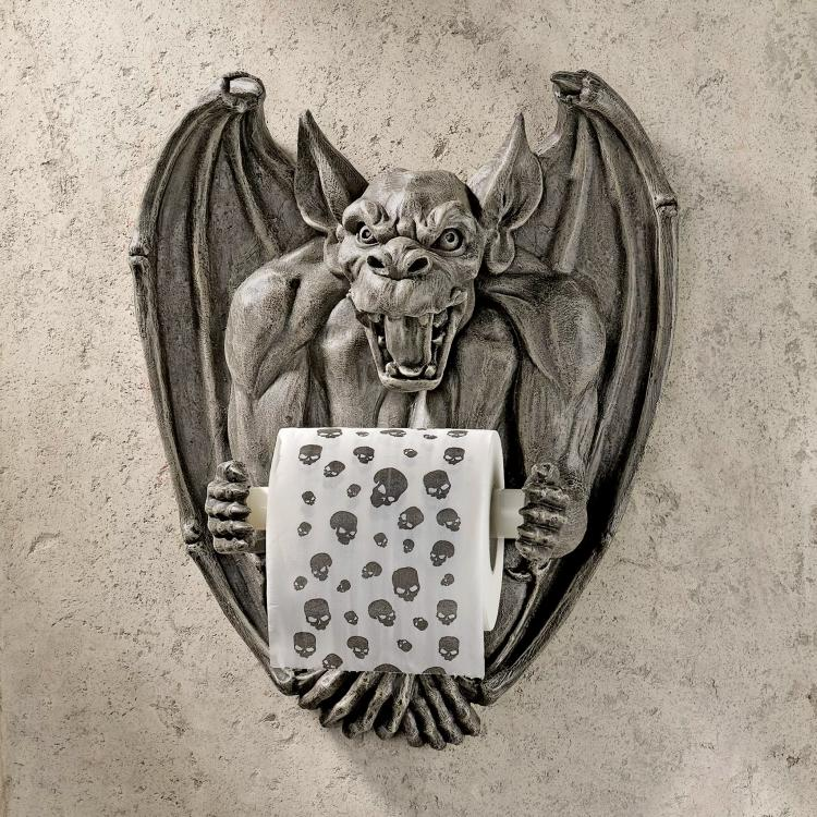 Medieval Gargoyle Toilet Paper Holder