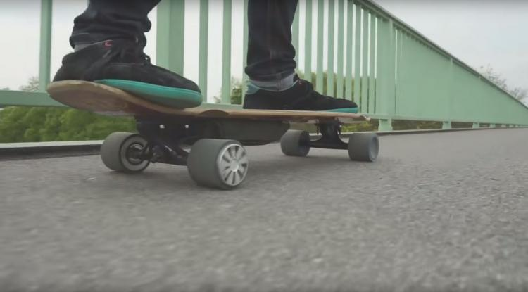 Mellow Drive Turns Any Skateboard Into An Electric Powered Skateboard