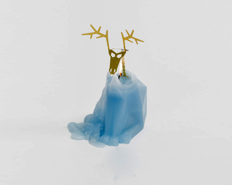 Melting Reindeer Skeleton Candle