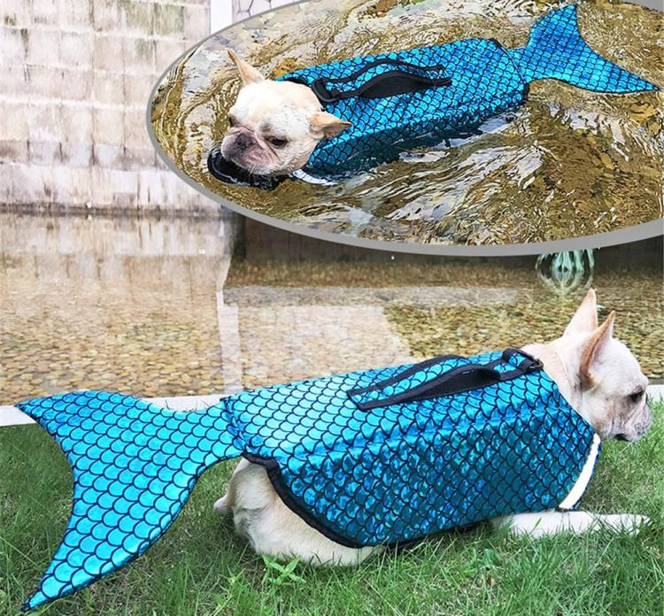 Mermaid Dog Life Jacket Turns Your Dog Into a Majestic Mermaid - Mermaid dog swimming vest