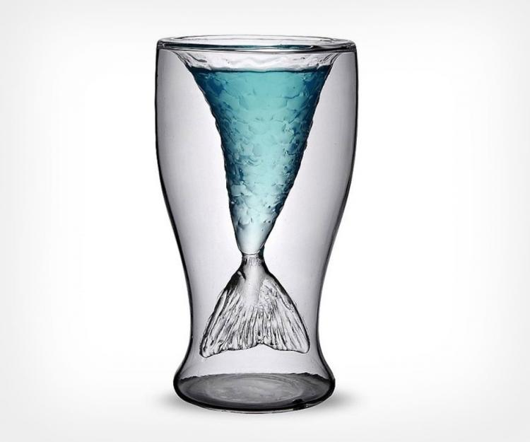 Mermaid Tail Drinking Glass - Mermaid Tail Shot Glasses