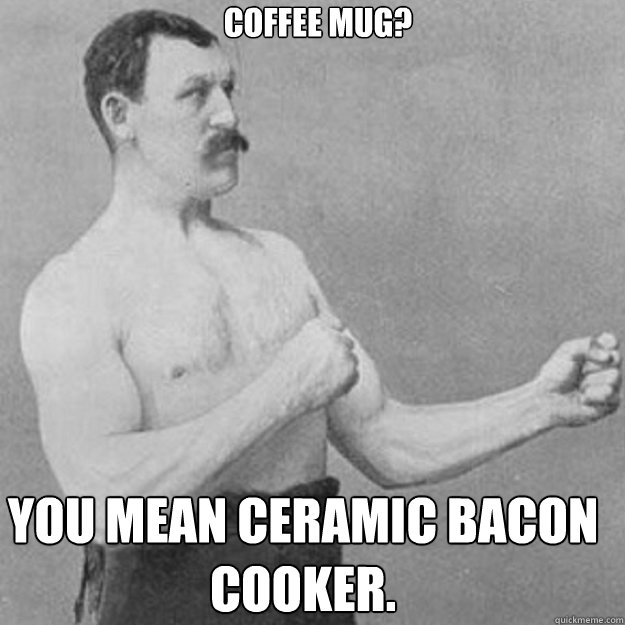 Microwavable Bacon Cooking Mug