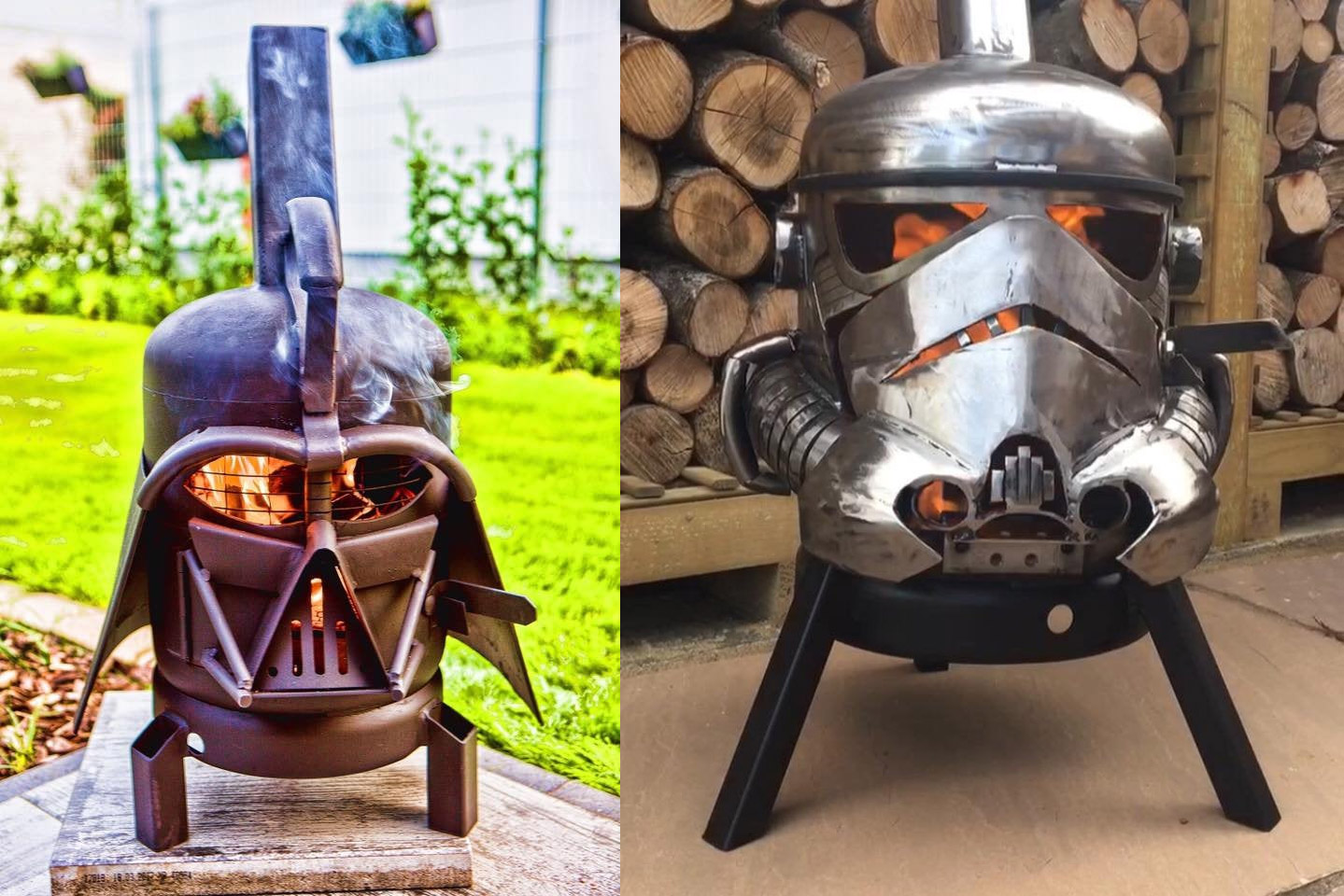 Darth Vader Fire Pit - Stormtrooper Fire Pit