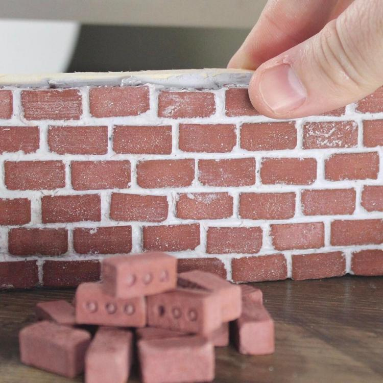 Mini Bricks and Mortar Let You Build Your Own Tiny Wall - Mini Materials tiny cement bricks