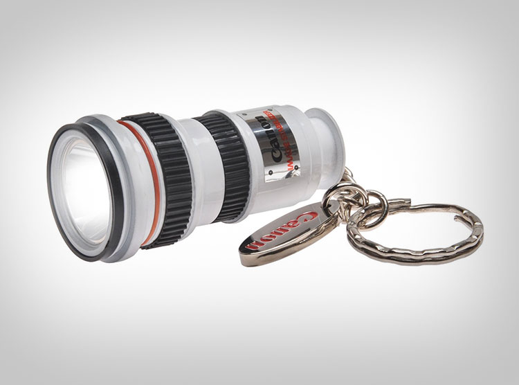 Mini Camera Lens Flashlight - White