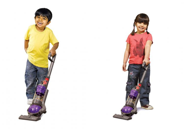 Mini Dyson Kids Vacuum Cleaner With Actual Suction and Sounds - Casdon working kids toy vacuum