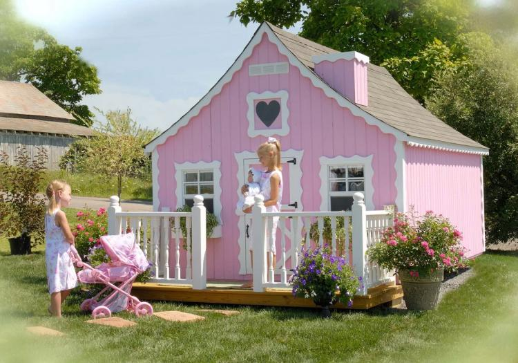 Mini Mansion Outdoor Playhouse For Kids - Little Cottage Company Giant Doll Playhouse
