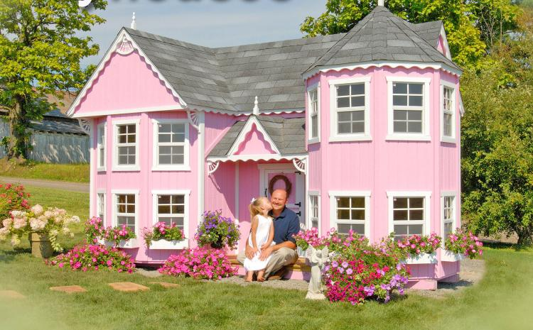 Do It Yourself Home Design: Mini Mansion Outdoor Playhouse For Kids