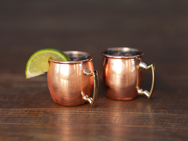Mini Copper Moscow Mule Shot Glasses Mugs