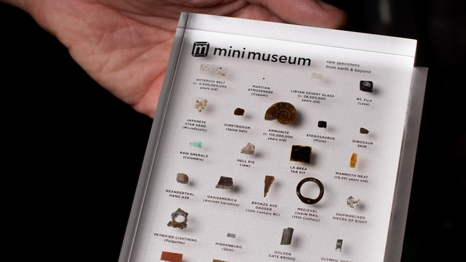 Mini Museum 2 - Portable Glass Collection Of Rare Items