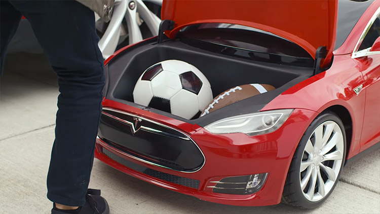 Electric Mini Tesla Model S Kid's Toy Car