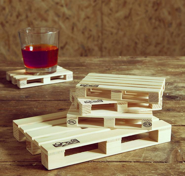 Mini Wooden Trivet Pallet and Pallet Coasters - Mini Pallet Coasters -  Mini Wooden Pallet Trivet