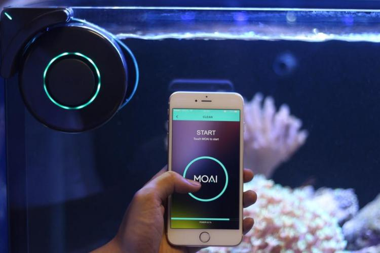 MOAI Robotic Aquarium Camera and Cleaner - Aquarium Roomba - Robotic fish tank cleaner