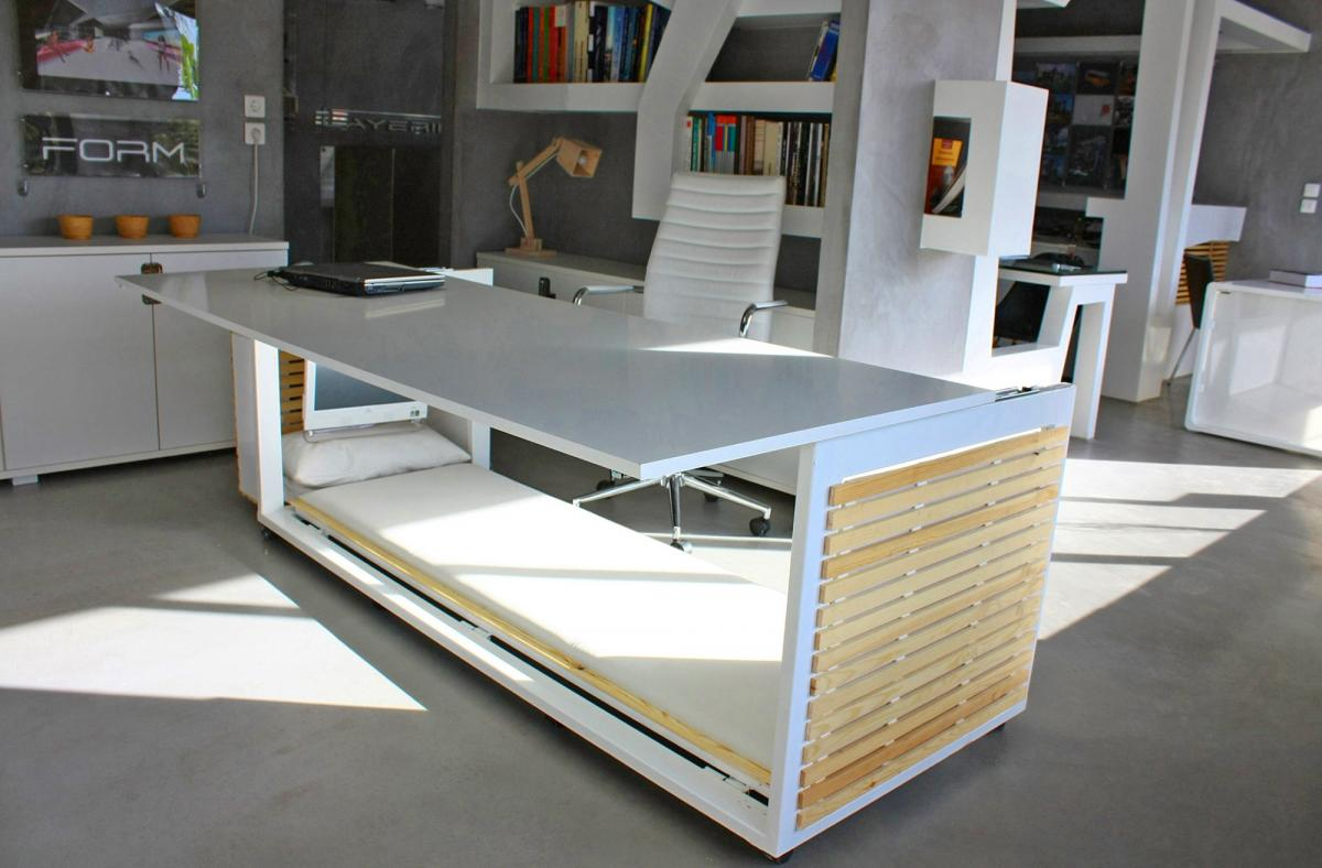Studio NL Office Napping Desk - Secret convertible nap desk inspired by George Costanza