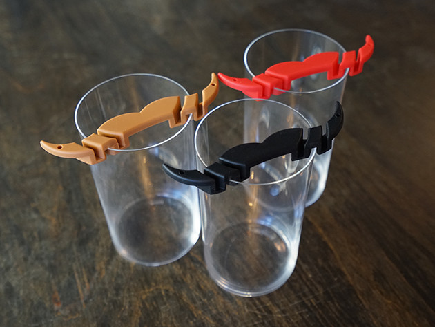 MoGuard Mustache Protector - Mustache Drinking Glass Attachment