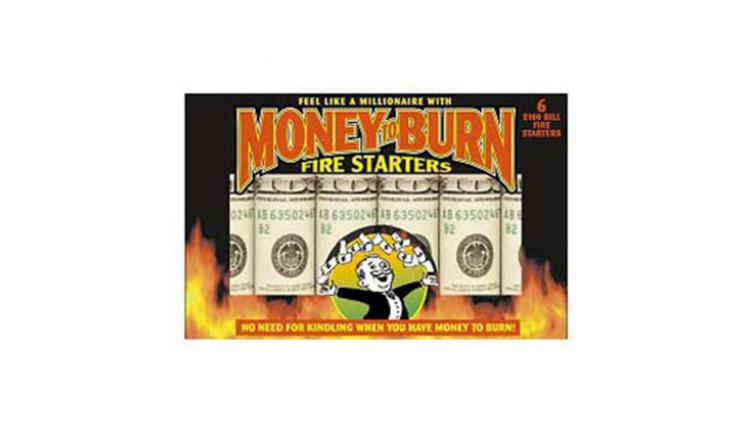 Money To Burn Fire Starters - Fake Money Fire Starting Rolls