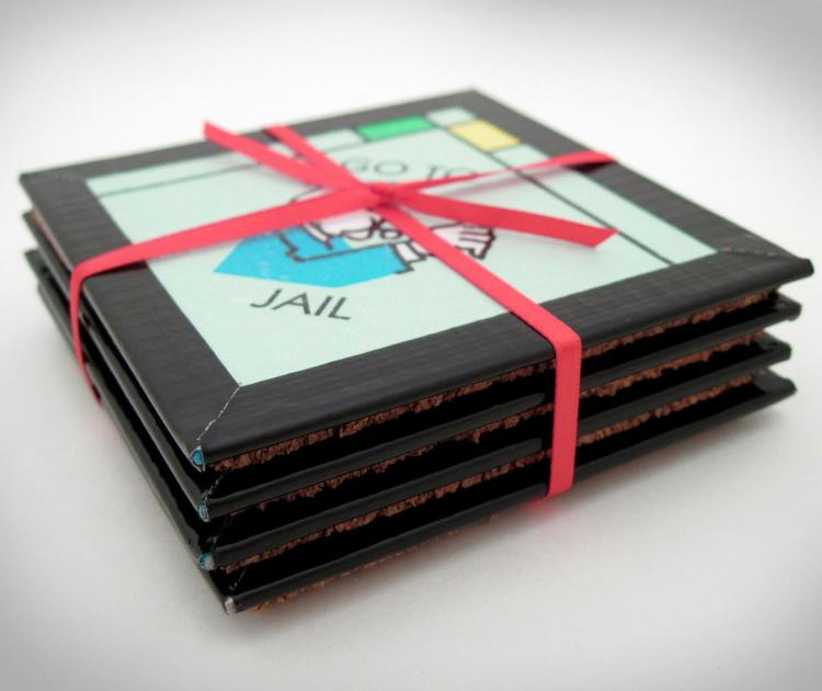 Monopoly Board Coasters