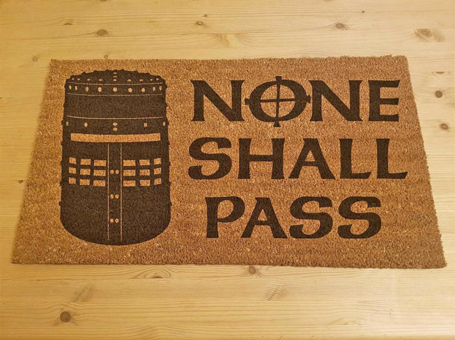 Monty Python Doormat - None shall pass Holy Grail funny doormat - None Shall Pass doormat