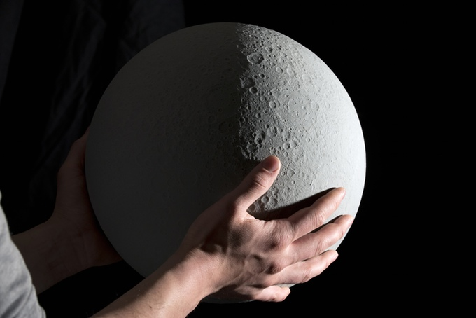 Moon Globe Calendar Shows Current Lunar Phase Of Actual Moon