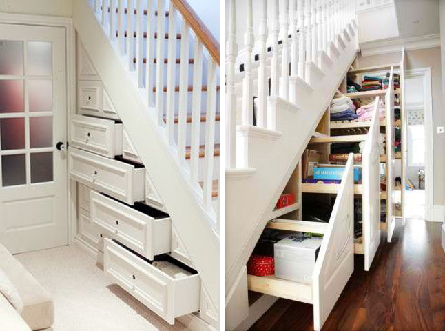 Most Creative Under The Stairs Home Designs - Hidden cabinet storage under the stairs