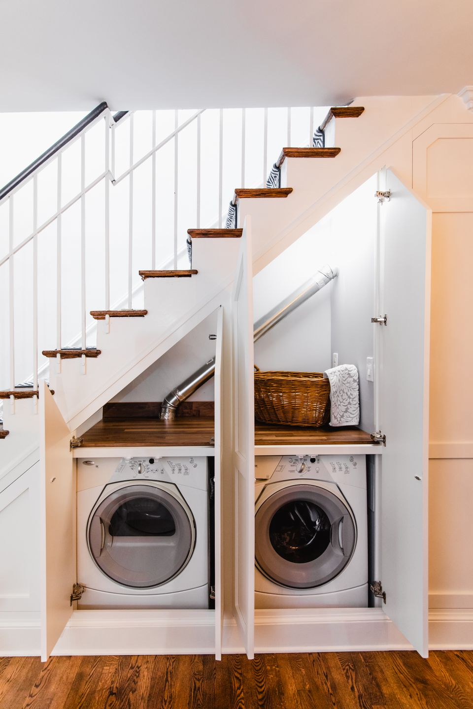 Most Creative Under The Stairs Home Designs - Washer dryer under the stairs