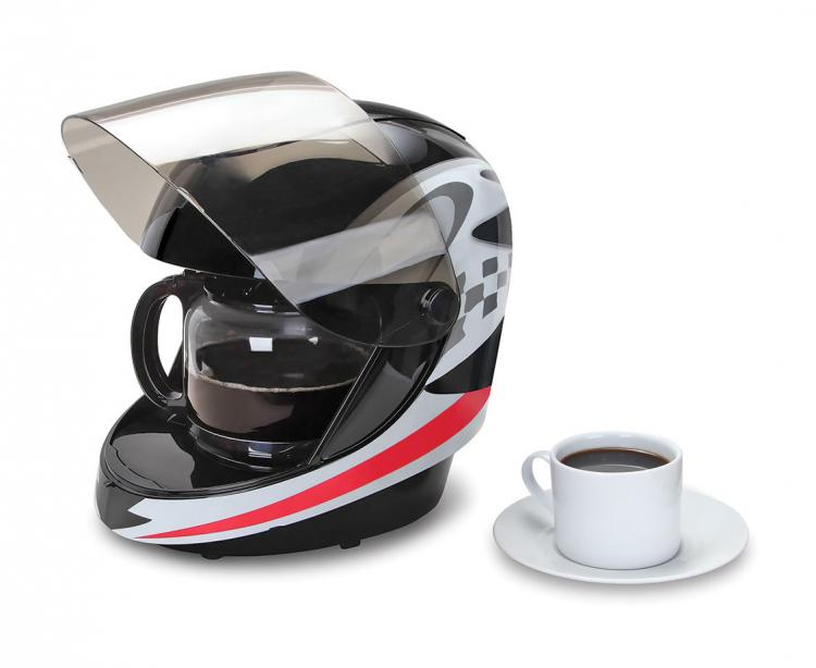 Motorcycle Helmet Coffee Maker - Racing Helmet Coffee Maker