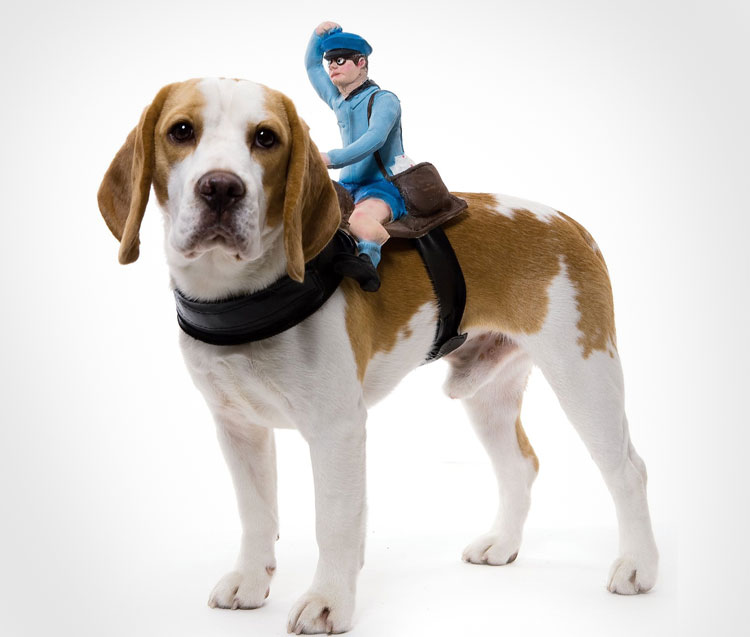 Paperman Dog Rider Costume