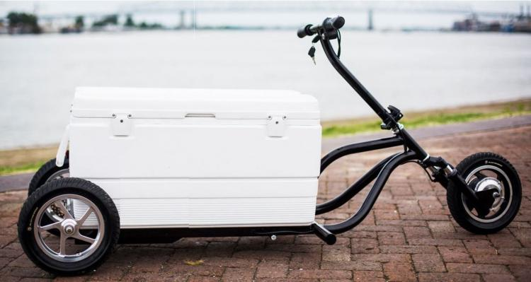 Kreweser Motorized Electric Cooler Scooter - Beer Cooler Motorcycle
