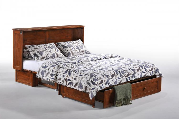 Murphy Cabinet Bed Hardwood Cabinet Transforms Into a Queen Bed