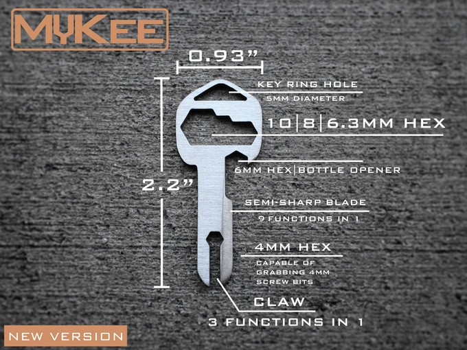 MyKee - Key Shaped Multi-tool