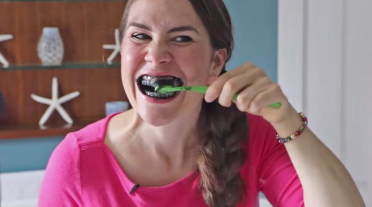 Activated Charcoal Capsules On Toothbrush Video