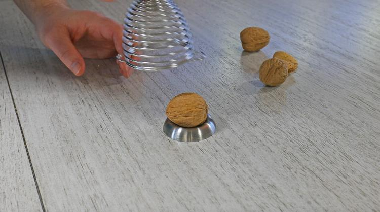 Naomi Spring Loaded Nutcracker - Spring Nut Cracker Tool