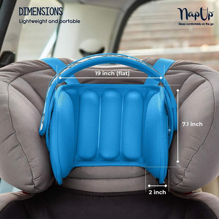 NapUp Child Car Seat Head Support Solution - Nap Up Booster Seat Head Holder keeps head stabilized while napping