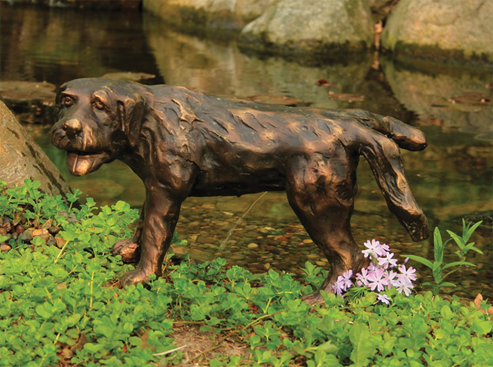Naughty Peeing Dog Water Fountain Statue - Water feature peeing dog fountain