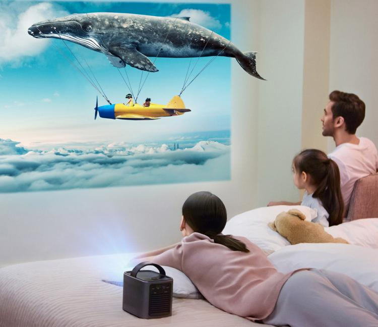 Nebula Mars Smart Portable Projector With Netflix Built-In - Tiny portable cinema projector