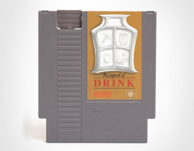 The Legend Of Drink NES Cartridge Flask