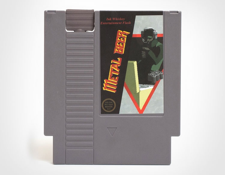 Metal Beer NES Cartridge Flask